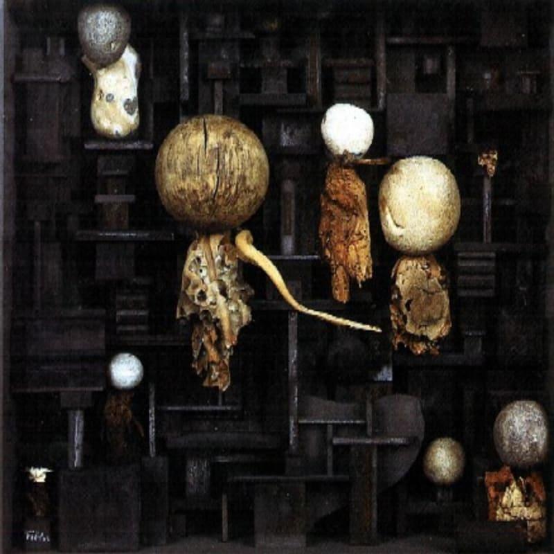 Yolande Fièvre Miserere du rêve boîte relief 36 x 35 x 11 cm