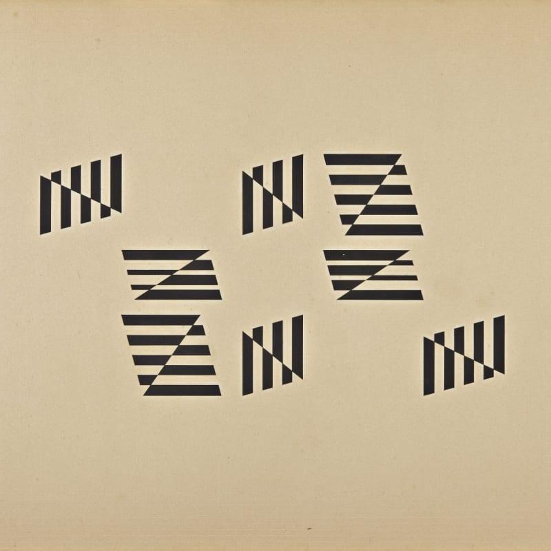 Helio Oiticica Limite-Lumificaças gouache sur carton 45,1 x 53,7 cm