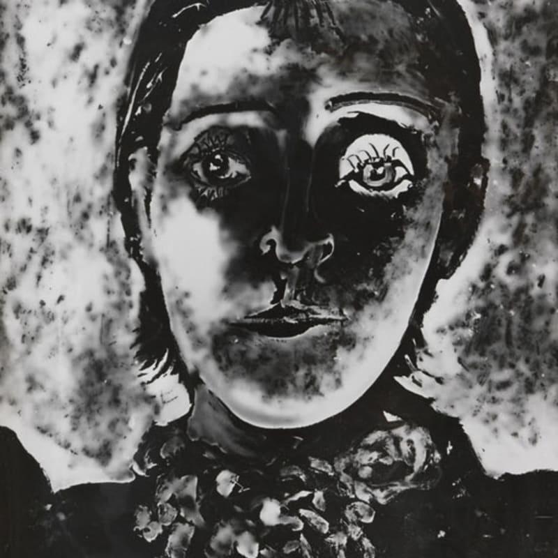 Pablo Picasso Portrait de Dora Maar épreuve gélatino argentique unique d'après un cliché-verre original 29,5 x 23 cm