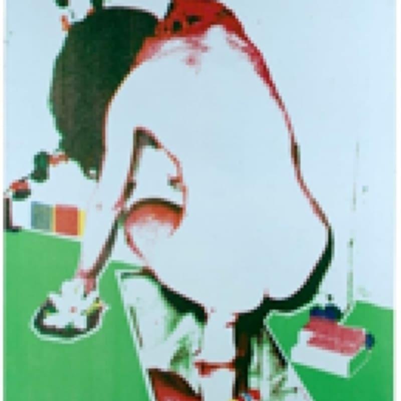 Alain Jacquet TUB Sérigraphie sur toile 130 x 80 cm