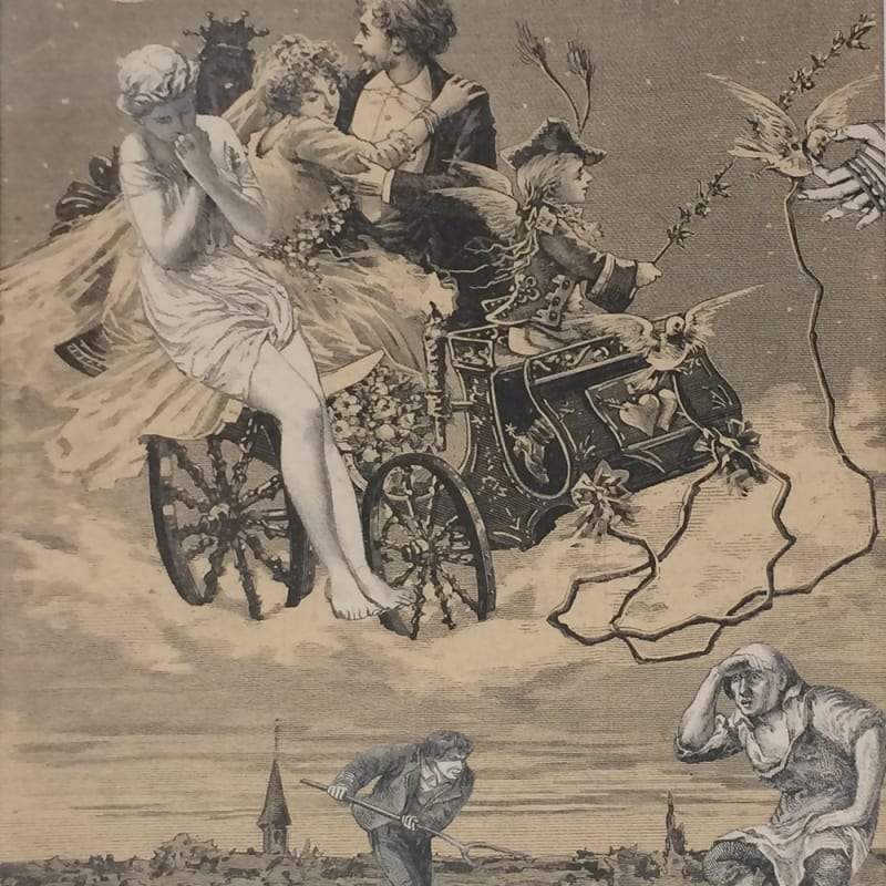 Max Ernst L'esprit de Locarno collage sur papier 24 x 19 cm (disponible) 24 x 19 cm - 21 1/8 by 17 3/8 in.