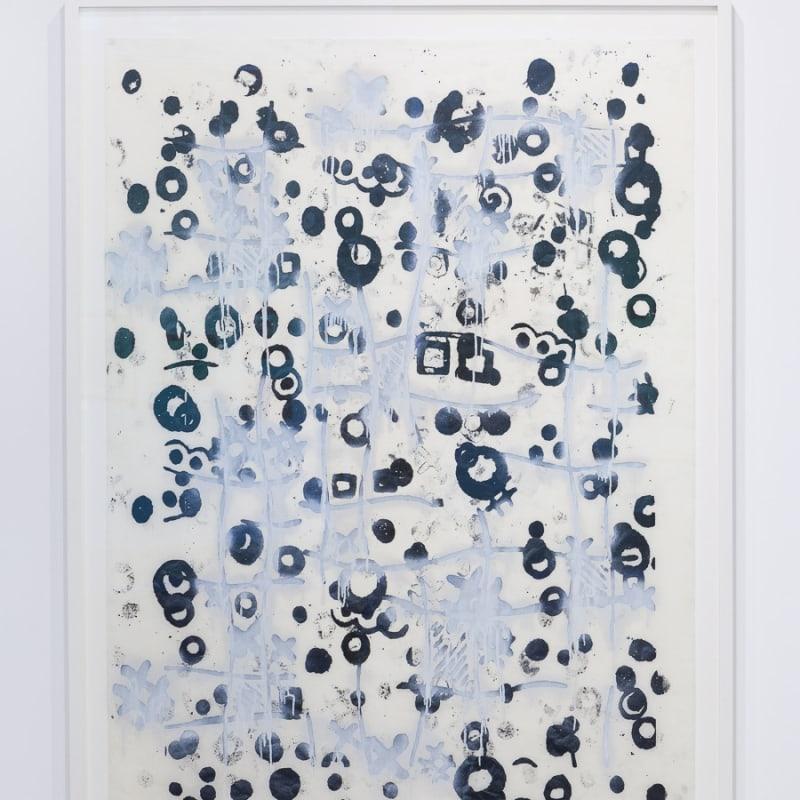 Christopher Wool Untitled papier de riz, alkyde et gouache 167,5 x 120 cm 65 3/4 x 47 1/4