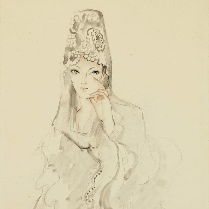 Francis Picabia L'Espagnole Aquarelle, encre, lavis d'encre et crayon sur papier 62,8 x 48,2 cm 24 3/4 x 19 in.
