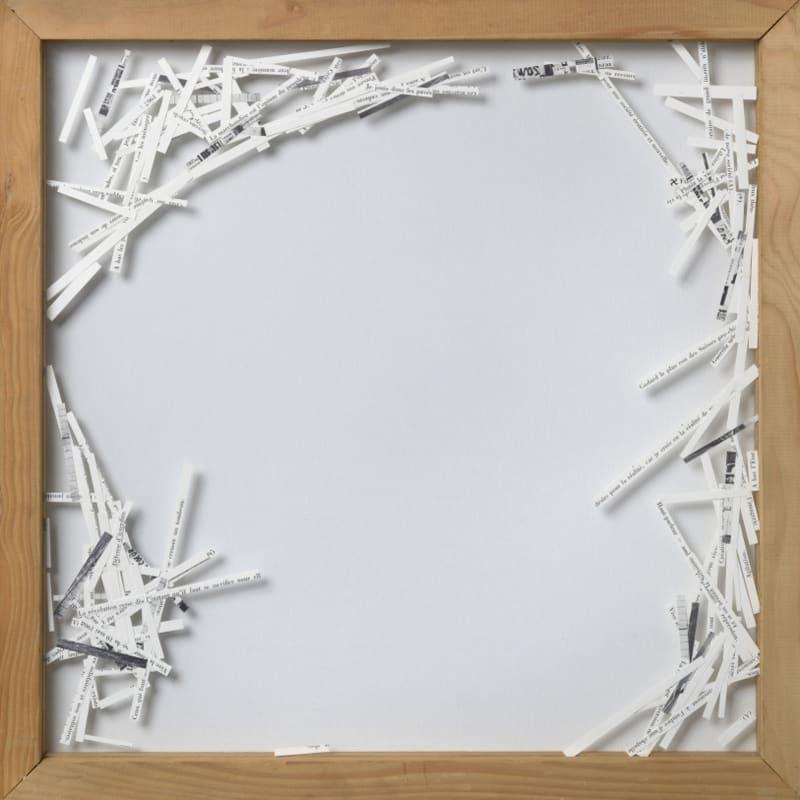 Gil Joseph Wolman W la liberta (Mai 68) papiers découpés, montage, entre deux feuilles de plexiglas 54,5 x 54,5 cm (disponible) 54,5 x 54,5 cm (available)