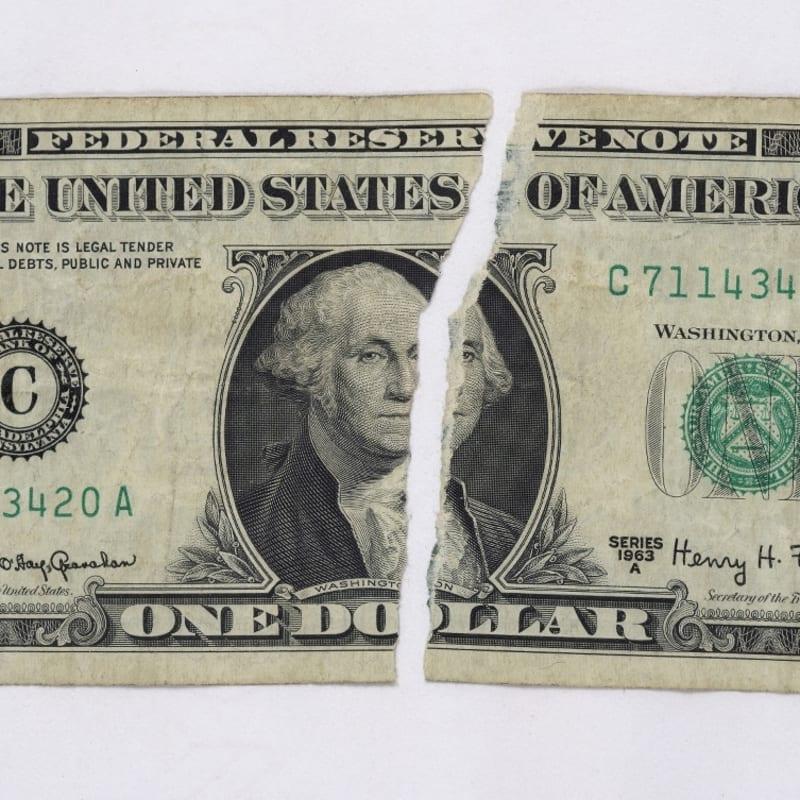 Gil Joseph Wolman Dollar séparé 6,6 x 15,6 cm