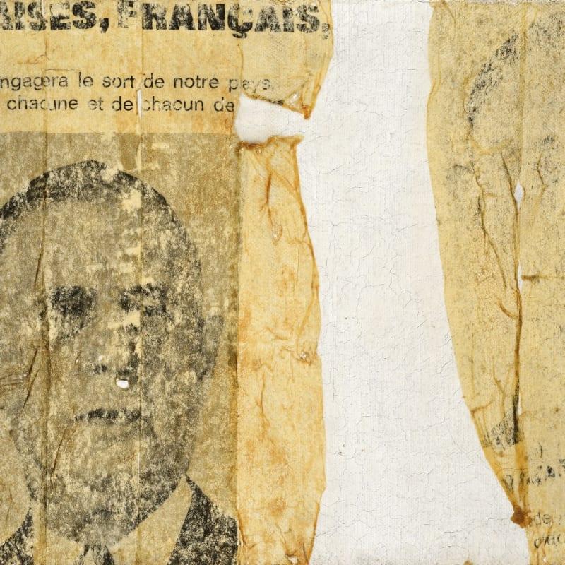 Gil Joseph Wolman Françaises, Français art scotch sur toile 22 x 32,2 cm (archives) 28,5 x 19,5 cm (archives)