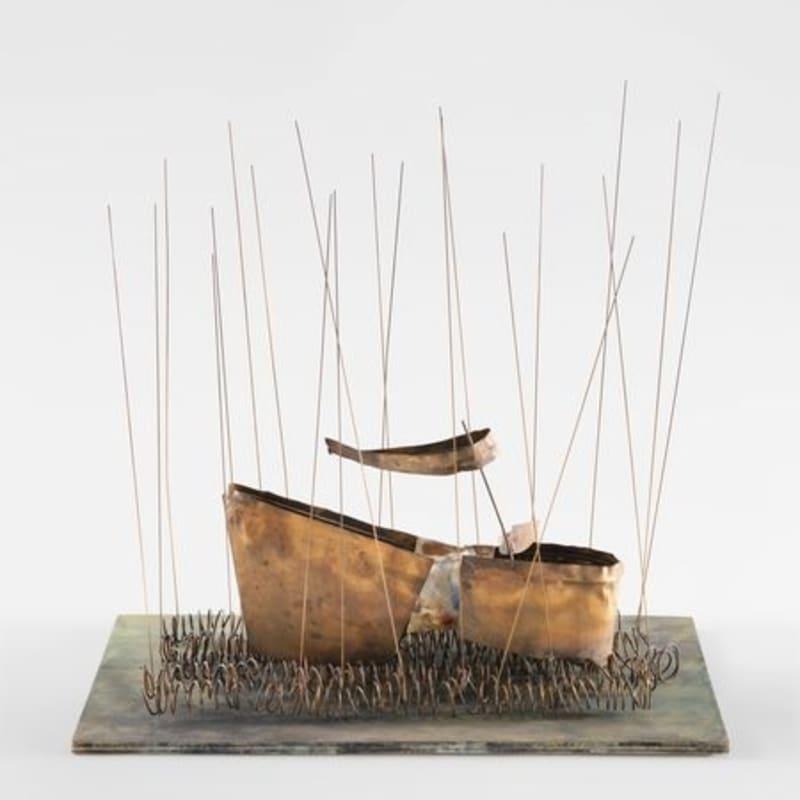 Fausto Melotti In Palude (In the Swamp) Laiton, bois peint, tissu peint 41 x 42 x 26 cm 16 1/8 x 16 1/2 x 10 1/4 inches