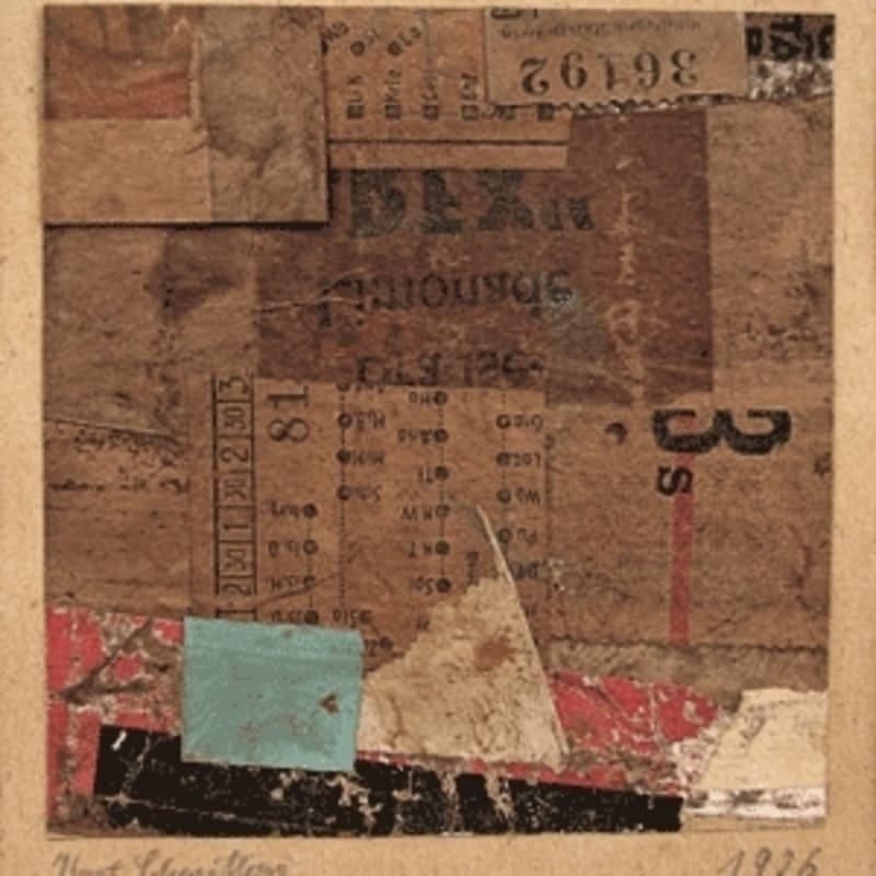 Kurt Schwitters Merzzeichnung collage de papier sur carton 9,8 x 9,2 cm / 20 x 17 cm avec montage (disponible) 9,8 x 9,2 cm / 20 x 17 cm with montage (available)