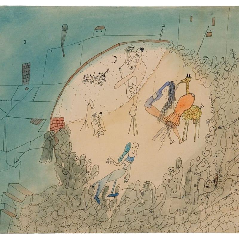 Wols Le cirque (prise de vue et projection simultanée) aquarelle et encre de chine sur papier 24 x 29.5 cm