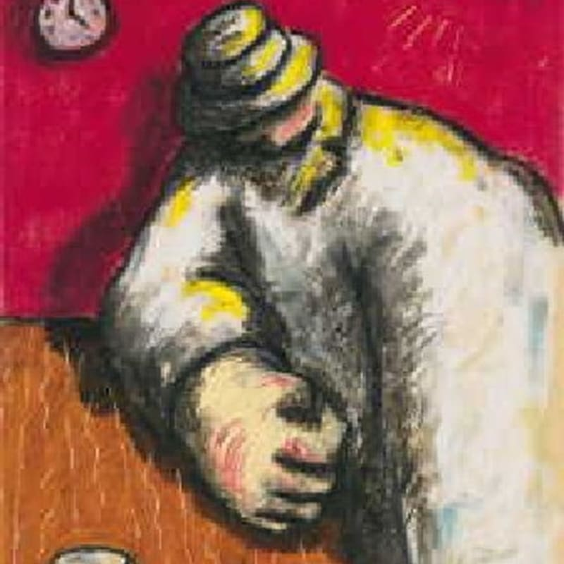 Jean Charles Blais En retard pastel sur carton 39,5 x 29,5 cm