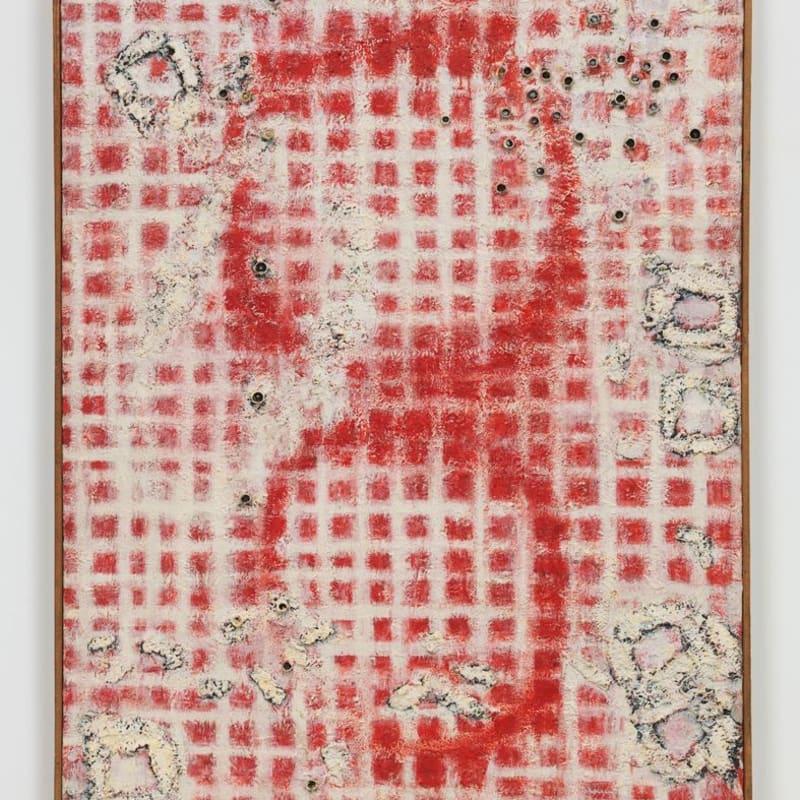 Chiyu Uemae Untitled Bouchons de tubes d'huile et de peinture sur toile 117 x 91 cm 46.06 x 35.83 in