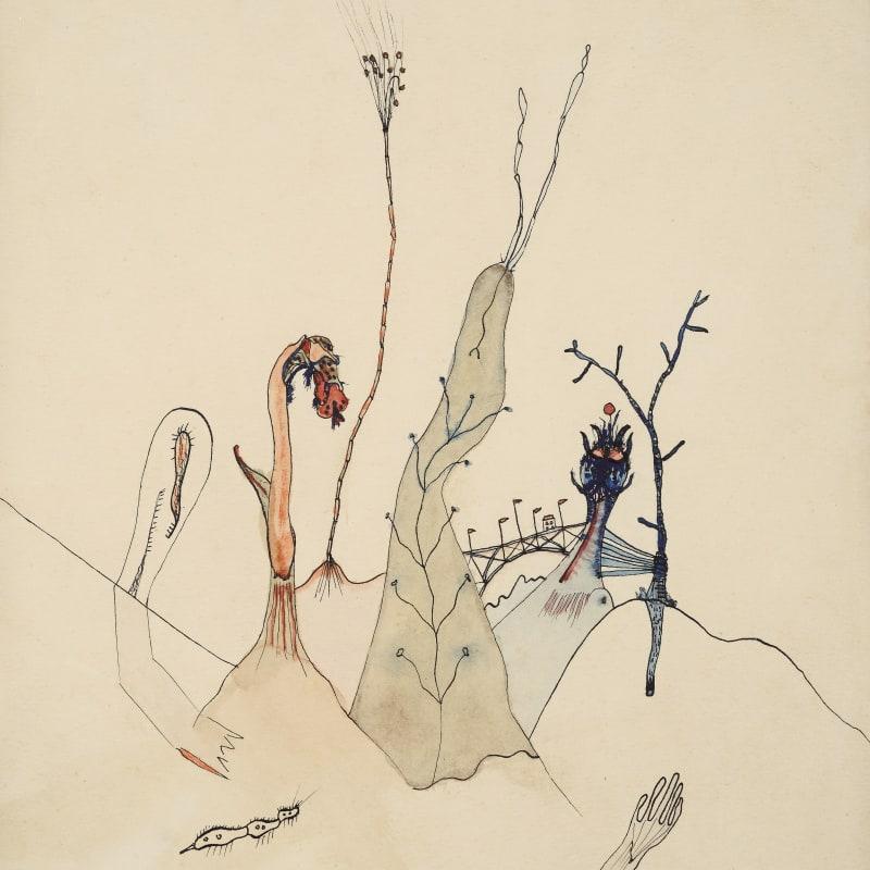 Wols Dans le sable aquarelle et encre de Chine sur papier 23 x 17,5 cm 9 1/2 x 6 7/8 in