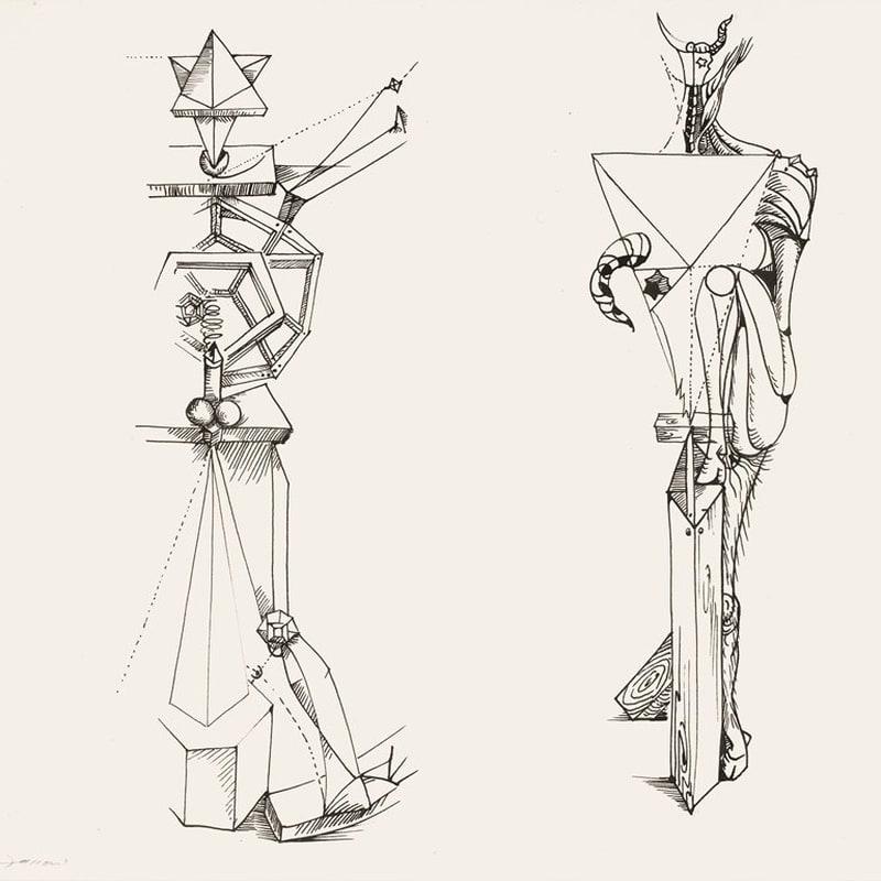 André Masson La beauté géométrique (IV de 3 Anatomie de mon Univers) encre de chine et crayon sur papier 47,9 x 63 cm (archives)