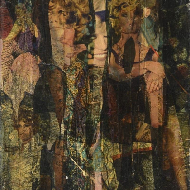 Gil Joseph Wolman Sans titre (Brigitte Bardot) art scotch sur toile 27 x 22 cm