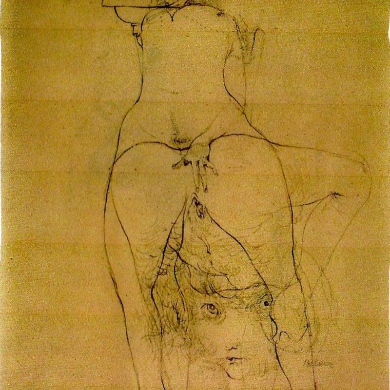 Hans Bellmer sans titre (double face) dessin à l'encre et crayon sur papier 27,3 x 19,7 cm