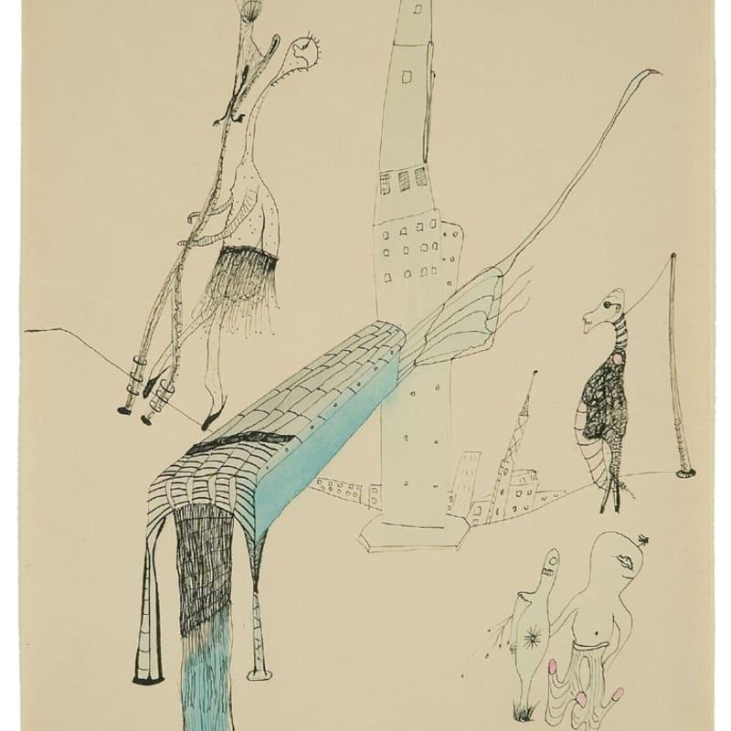 Wols Les couples heureux aquarelle et encre de chine sur papier 23,6 x 31,5 cm 15 3/4 x 22 1/2 in.