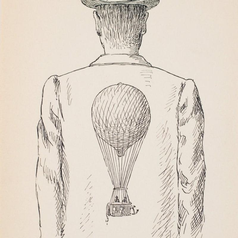 René Magritte Homme au chapeau melon encre sur papier 27 x 17,9 cm 10.63 x 6.69 in