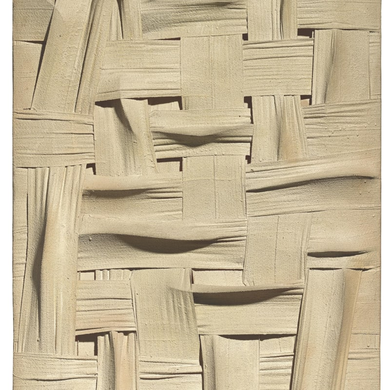 Salvatore Scarpitta The corn queen bandes de tissus et techniques mixtes sur panneau 120,5 x 76 cm