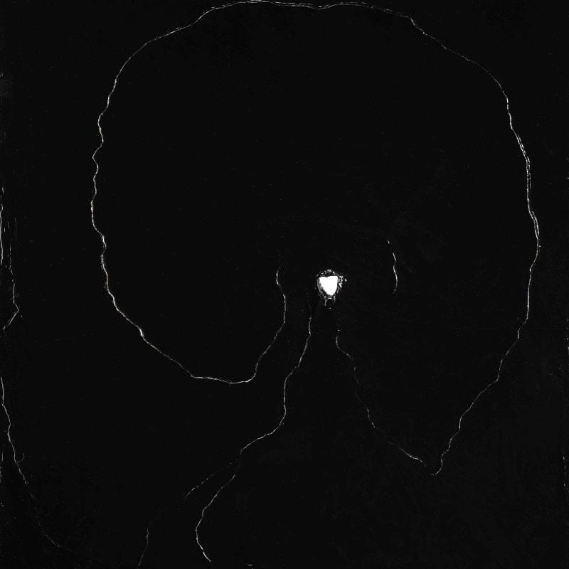 Lucio Fontana Concetto Spaziale huile et grafitti sur toile 70 x 60 cm