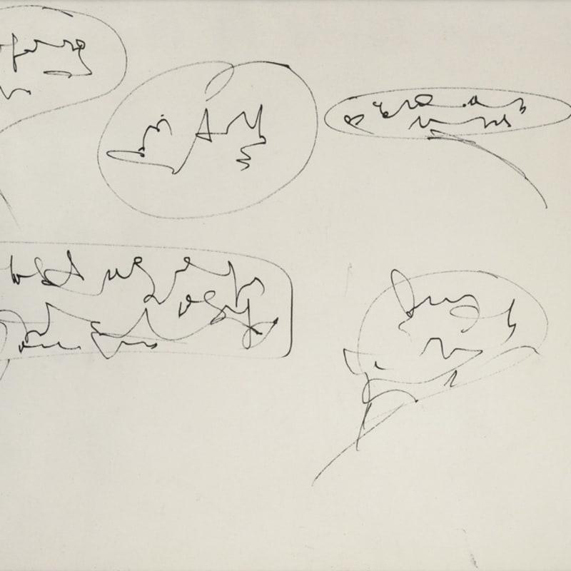 Gil Joseph Wolman La bande à Canson encre de Chine 24 x 31 cm
