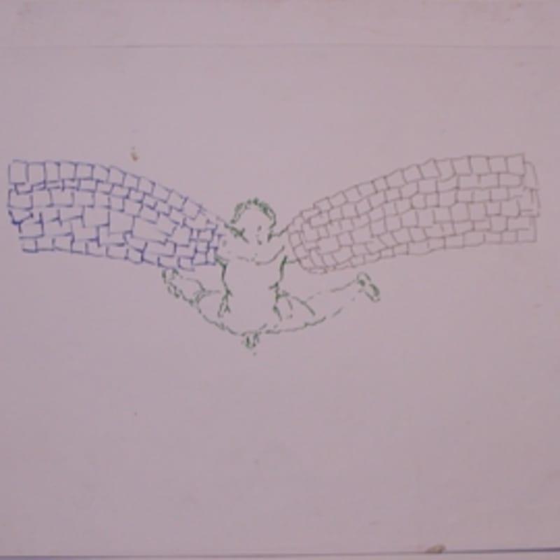 Sébastien Pignon Série des dessins-enveloppes crayon, feutre, aquarelle et encre sur papier 29,8 x 45,2 cm