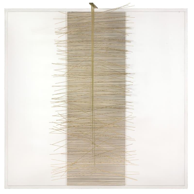 Jesus-Rafael Soto La Colonne Blanche peinture sur bois, métal et nylon 156 x 158 x 94 cm