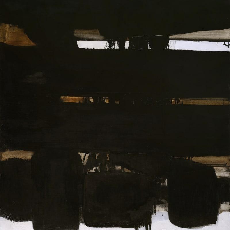 Pierre Soulages Peinture 162 x 130 cm. 16 octobre 1966 huile et brou de noix sur toile 162 x 130 cm
