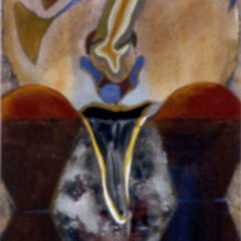 Francis Toledo Autoportrait gouache, aquarelle et papier d'argent 20,5 x 13,5 cm (disponible) 20,5 x 13,5 cm (available)