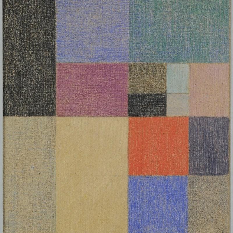 Sophie Taeuber-Arp Composition verticale - horizontale crayon et crayons de couleur 23 x 18 cm 14 by 12 1/4 in.