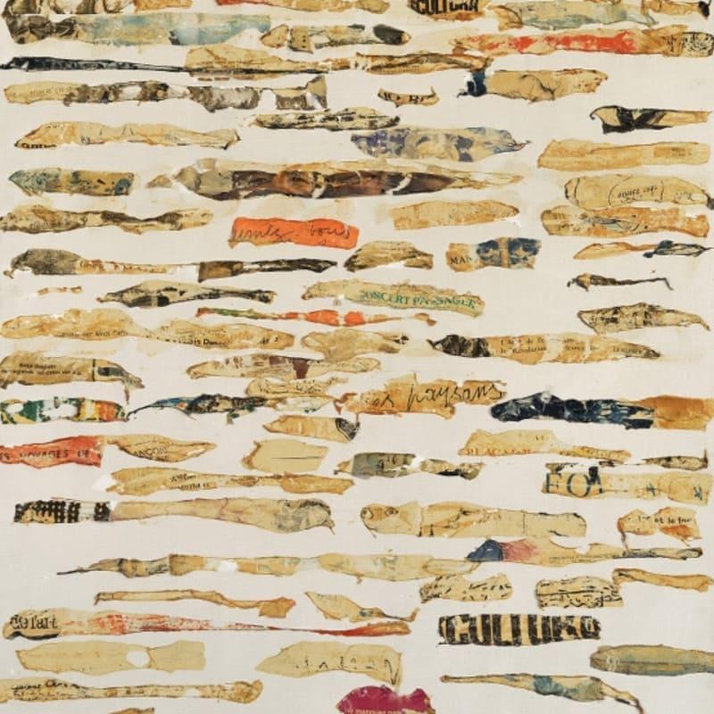 Gil Joseph Wolman Sans titre (t-art) art scotch sur toile 114,8 x 80,5 cm