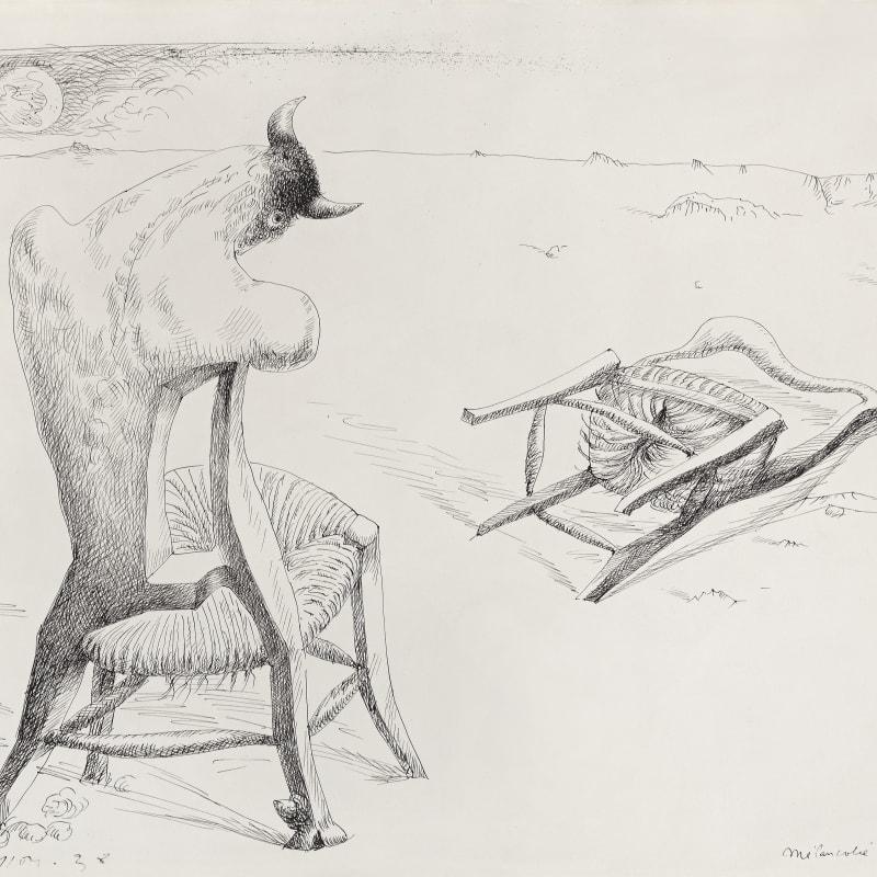 André Masson Mélancolie du Minotaure dessin à la plume et encre sur papier 50,5 x 65,8 cm (disponible) 49 x 64 cm (available)