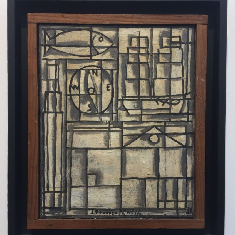 Joaquin Torres-Garcia Composition Constructiviste huile sur toile 41 x 33 cm 16 3/16 x 13 in.