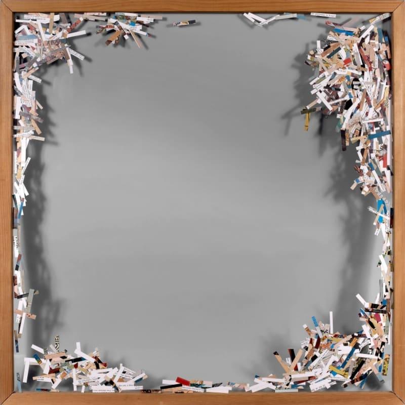Gil Joseph Wolman L'érotisme Japonais montage de papiers découpés entre deux feuilles de plexiglas 94,5 x 94,5 cm (disponible) 94,5 x 94,5 cm (available)