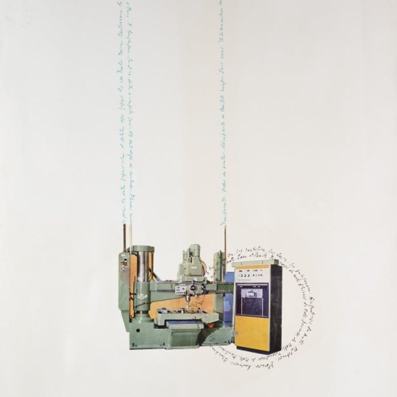 Bernard Heidsieck Machine à mots n° 1 écritures et collage de photographie sur papier 64 x 50 cm (disponible) 10 5/8 by 8 1/4 in. (available)