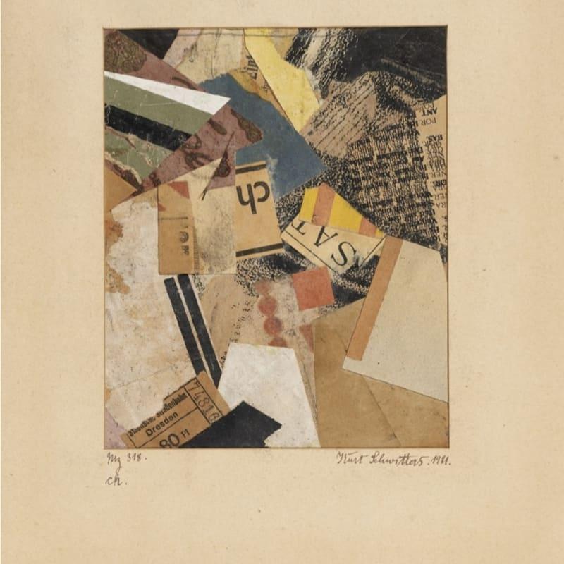 Kurt Schwitters Mz 318. ch. collage de papier sur papier 18 x 14,4 cm (archives) 12 1/4 by 9 in. (archives)