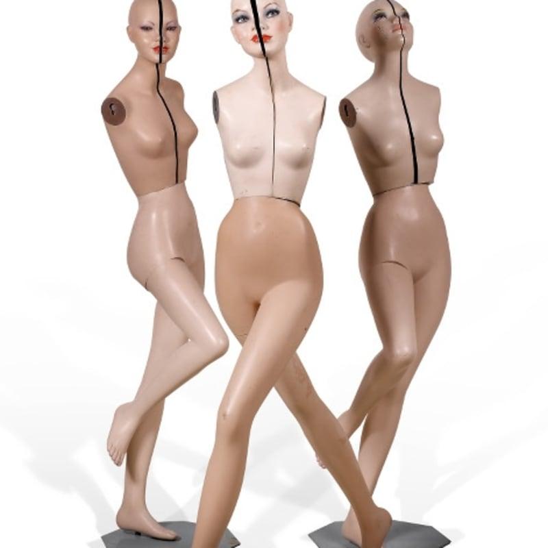 Gil Joseph Wolman Mannequins séparés mannequins de vitrine de mode séparés en deux hauteur : 170 cm (disponible) height : 170 cm (available)