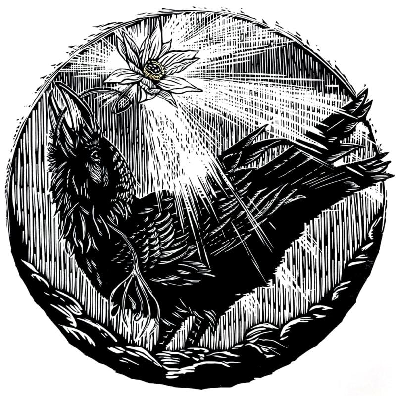 Claire Emery, Raven III: No Mud, No Lotus, 2019