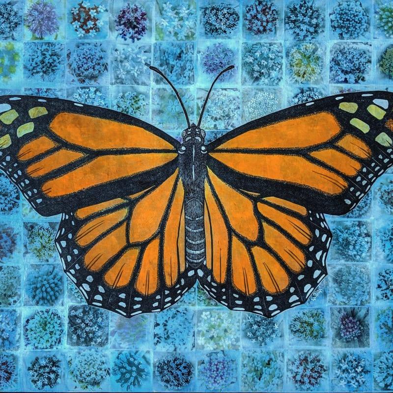 David Miles Lusk, Monarch and Milkweed, 2019