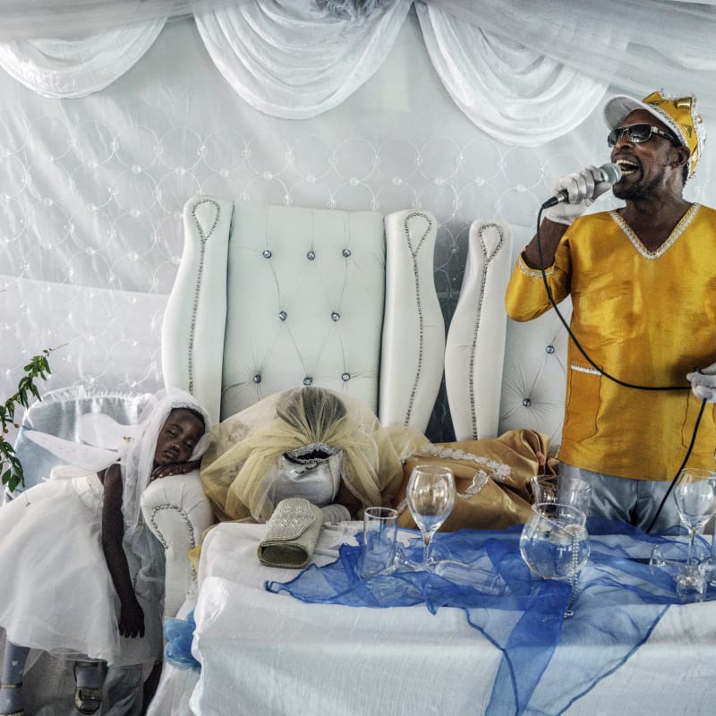 Jonas Bendiksen  Moses preaching to his followers, South Africa, 2016  Pigment Print  100 x 140 cm  Edition of 3 plus 2 artist's proofs