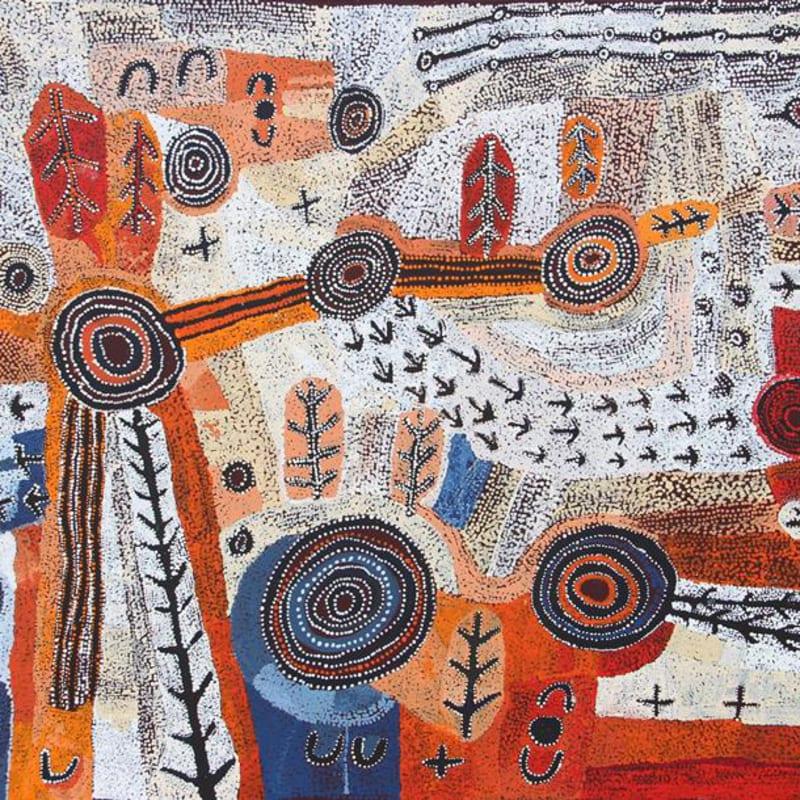 Alec Baker  Ngura (Country), 2018  acrylic on linen  152 x 198 cm