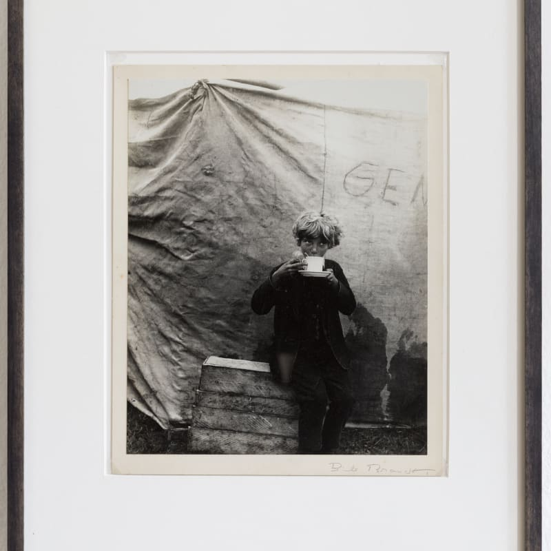 Bill Brandt  Circus boy, 1933  Original vintage print (printed by the artist 1934)  Etched by artist  photo: 27.5 x 22 cm  signed panel: 30 x 24 cm  frame: 47.5 x 39 cm