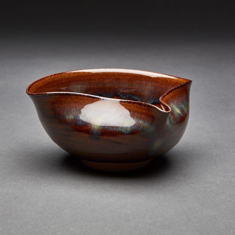 Takatori  56, 2016  Tenmoku Glazed Porcelain  6 x 13.1 x 13.1 cm