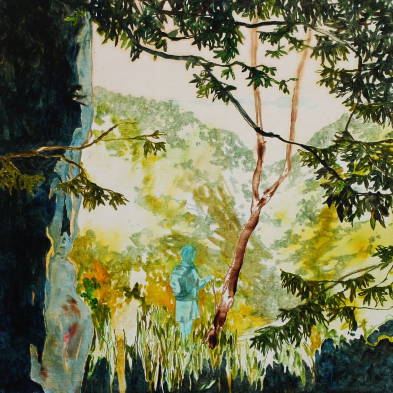 Daniel Ablitt, View to the Valley (Blue Figure)