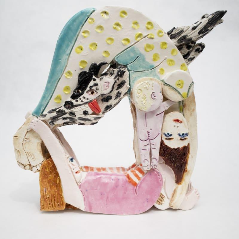 Madeline Donahue  Double Forward Roll, 2020  Glazed ceramic  9 x 8 x 3 in  22.9 x 20.3 x 7.6 cm
