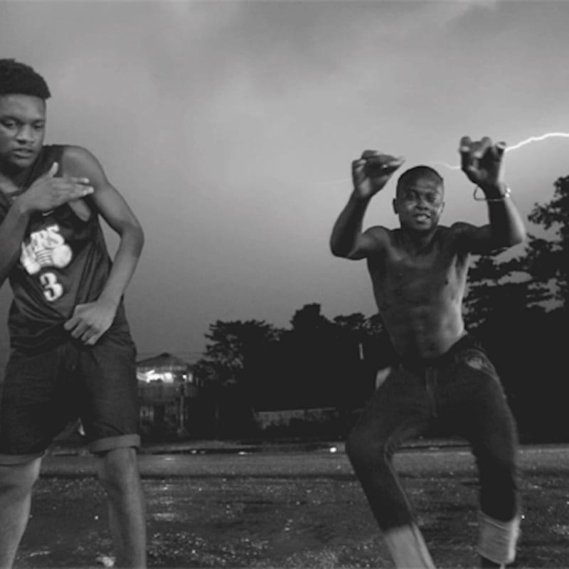 Cecilia Bengolea Lightning Dance, 2018. Video screening, black & white, sound