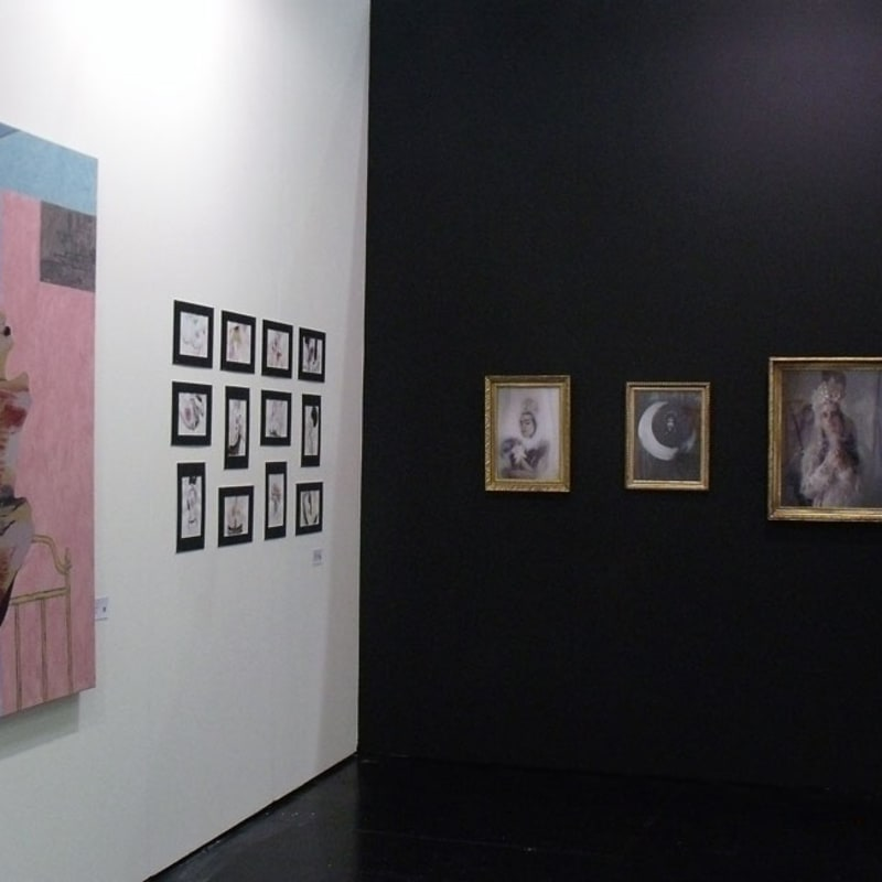 Ivan Plusch, Anastasia Potemkina and Uldus works at the gallery's stand