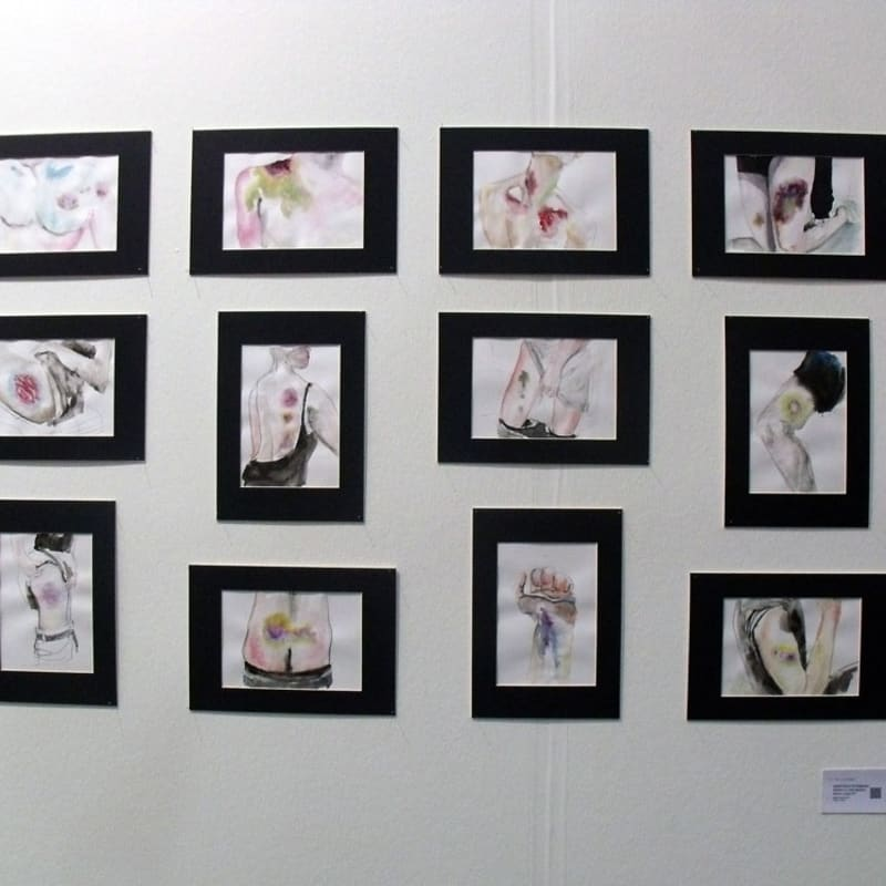 """Anastasia Potemkina works from the project """"A few words about civility"""" at the gallery's stand"""