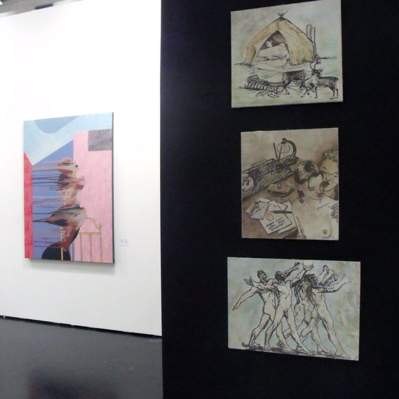 Ivan Plusch and Yuriy Aleksandrov works at the gallery's stand