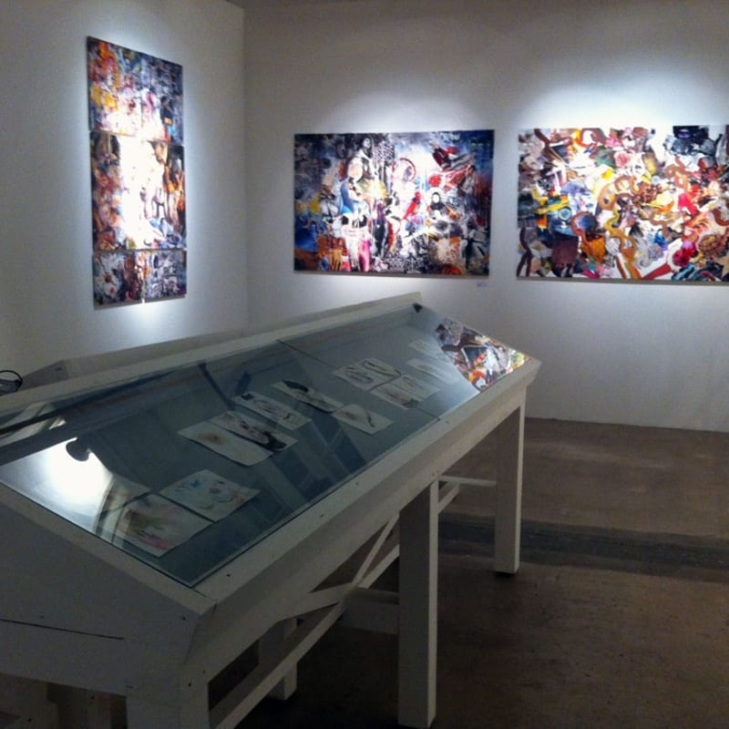 Marya Dmitrieva, Anastasia Potemkina works at the gallery's stand