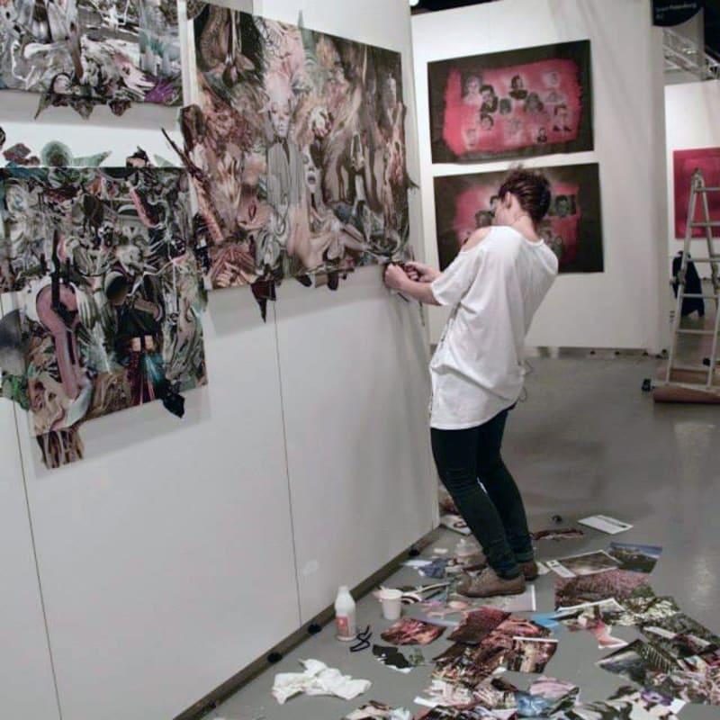 Marya Dmitrieva- artist at work.Contemporary Istanbul mounting